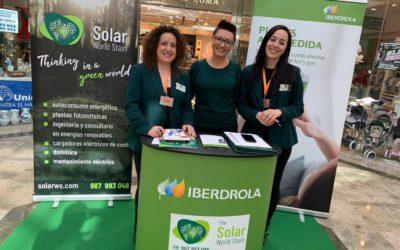Iberdrola y Solar World Stain en el centro comercial Calle Ancha