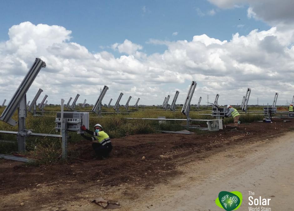 Solar World Stain continúa sus obras con la máxima seguridad