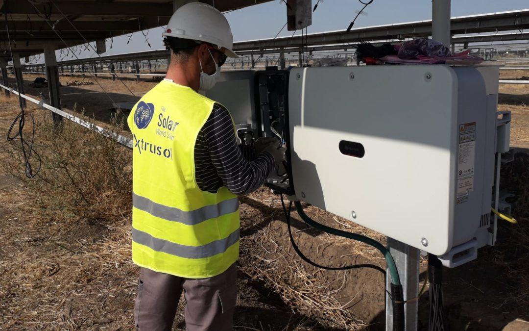Solar World Stain en el parque fotovoltaico Cabrera Solar
